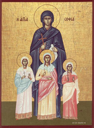 17-9 - Sf.Mucenita Sofia si fiicele sale Pistis, Elpis si Agapis