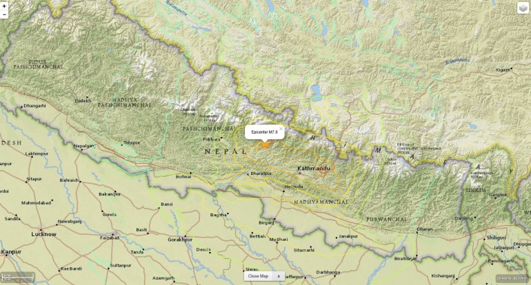 cutremur nepal 25 aprilie 2015